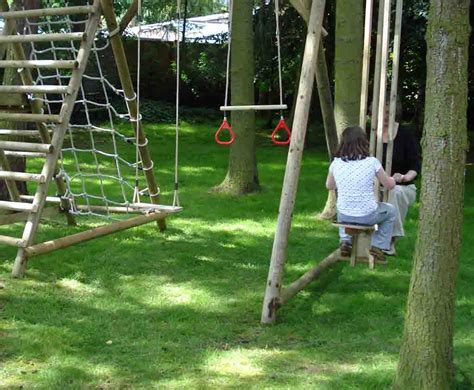 swing pul push me pull you wooden play equipment from caledonia play