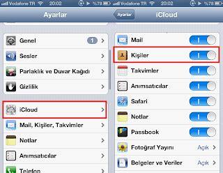 iphone u bilgisayara yedekleme iphone rehber aktarma