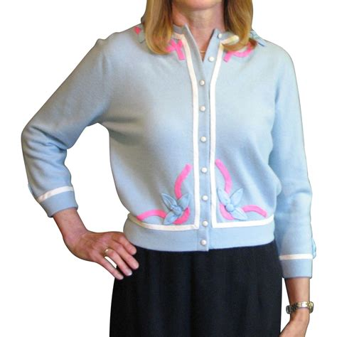 Vc Sweater vintage 1950 s sweater vintage appliqued by from mjgdesigns on ruby
