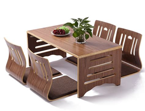 japanese style table and chairs 5pcs set modern japanese style dining table and chair