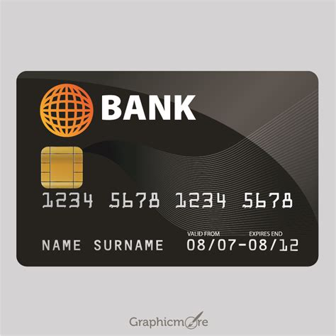 Credit Card Template Ai by Sle Credit Card Design Free Vector File