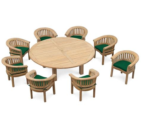 the 8 seater empire deluxe dining set with 8 seater garden dining set titan 2 2m table with deluxe banana chairs