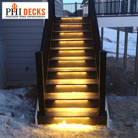 Solar Lights For Deck Stairs Odyssey Led Light By Deck Lighting Decksdirect