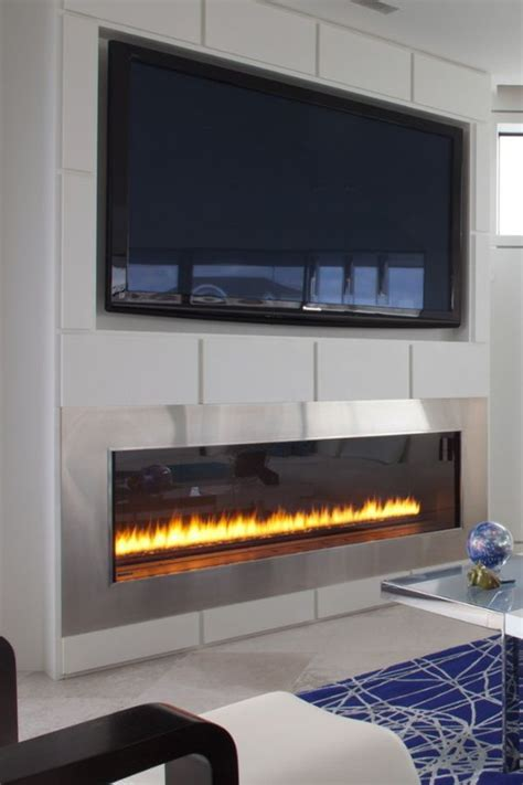 17 best ideas about linear fireplace on gas