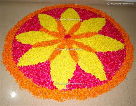 flower pattern rangoli design onam flower rangoli designs collection traditional kerala
