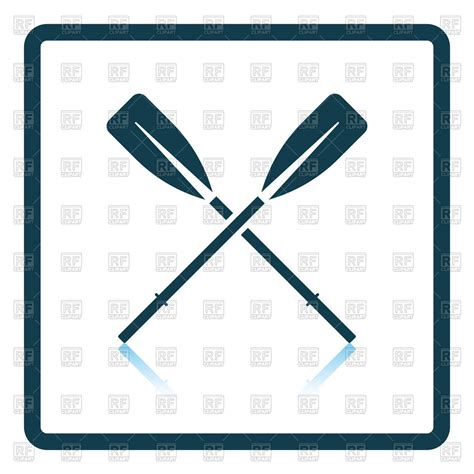 boat and oars clipart icon of two crossed oars boat club emblem vector image