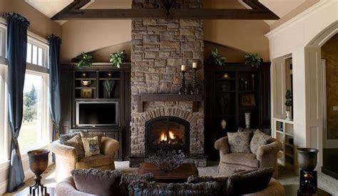 living room design with stone fireplace blue curtain cabinet living room stone fireplace stone