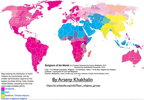 religion geocurrents current religions of the world map www pixshark com
