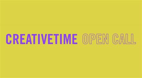 creative time announces  emerging artist open call