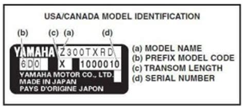 yamaha outboard motor number decoder decoding yamaha outboard motor model number and