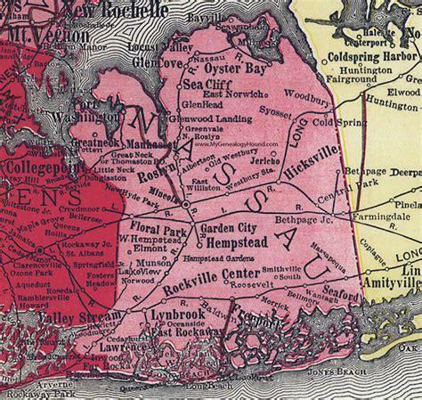 nassau county new york 1908 map by rand mcnally