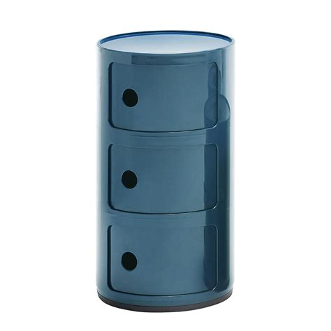 Table De Nuit Kartell by Kartell Table De Chevet Componibili 224 Trois 233 L 233 Ments Bleu