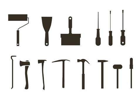 free tool free tool silhouette vectors free vector