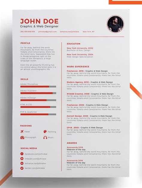 resume template creative cv template creative resume templates 2018 template ideas