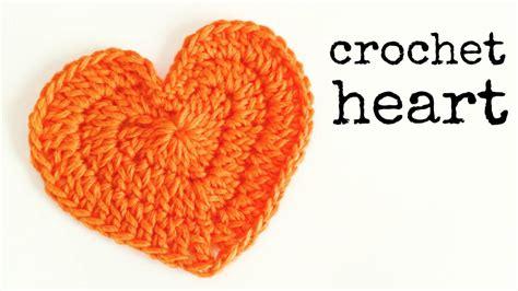 easy crochet heart pattern uk how to crochet a heart medium size crochet lovers doovi