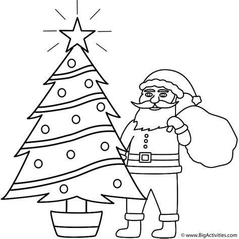 Santa Clause Printables New Calendar Template Site Santa Claus And Tree Coloring Pages