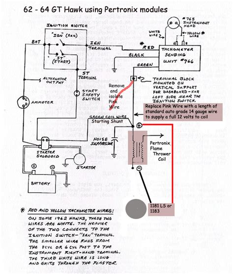 pertronix tach wiring free wiring diagrams