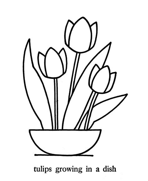 coloring pages of simple flowers simple flower coloring page flower coloring page