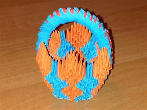 3d Origami Basket - 3d origami basket by suslis on deviantart