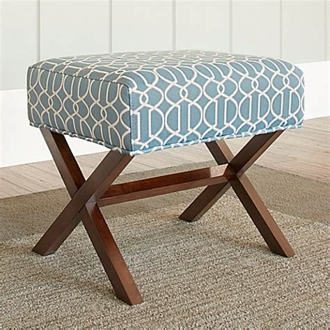 Buy Chatham House Upholstered Ottoman With Wood Legs In Wood Ottoman Legs