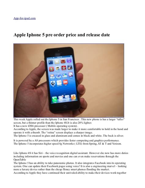 iphone in order apple iphone 5 pre order price and release date