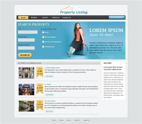 templates for website in php real estate website template free real estate web