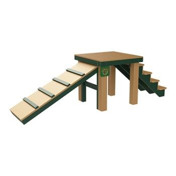 Playground For Small Backyard Top Dog Bridge Stairs And Ramp Barco Products
