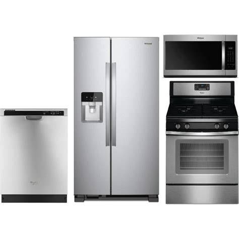 oven cooktop package whirlpool 4 kitchen appliance package with gas range
