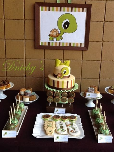 Turtles Baby Shower Theme by Dnichys Cakes And Cookies Tortuga Turtle Baby Shower