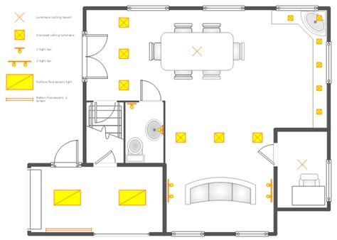 lighting floor plan ground floor rcp