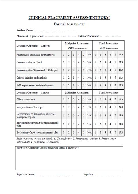 Clinical Evaluation Report Template Sle Clinical Placement Student Assessment Griffith