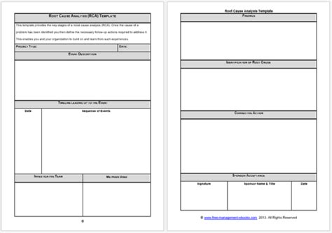 Rca Template Root Cause Analysis Templates 8 Docs For Word Excel Templates Root Cause Analysis Template Excel