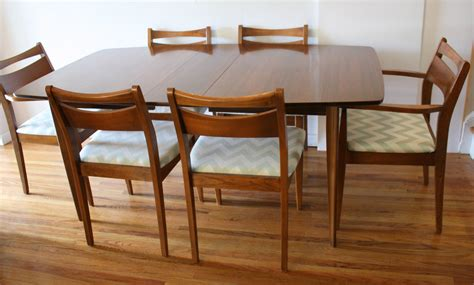 modern dining table chairs mid century modern dining chair set and broyhill brasilia