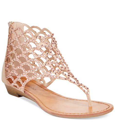Flat Sandals Thongs Triset Shoes zigi soho mela caged flat sandals sandals shoes