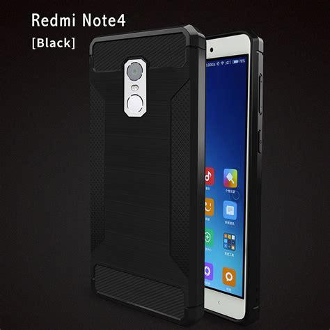 Casing Cover Xiaomi Redmi Note 4 Anti Anti Shock Soft Back black xiaomi redmi note 4 brushed carbon fiber phone