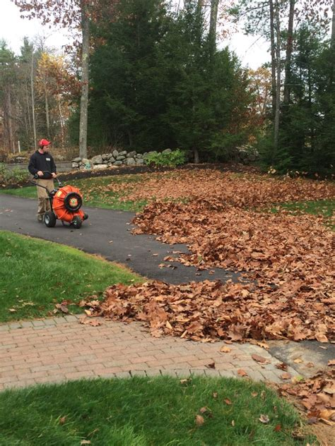 leaf removal winter preparation in nh fall landscaping