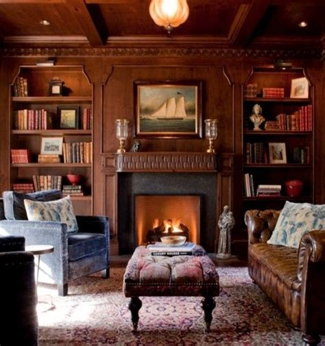 Livingroom Realty warm and cozy library design pinterest