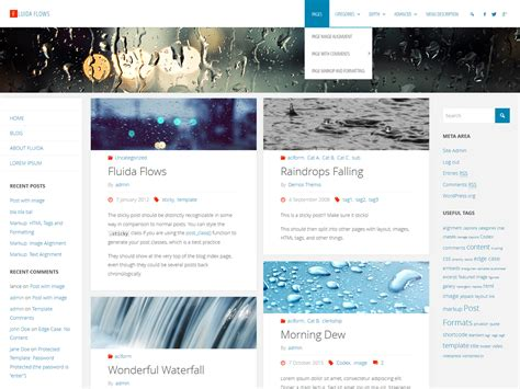 wordpress nirvana tutorial fluida wordpress theme cryout creations