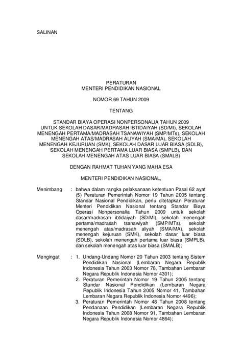 Standar Pembiayaan Pendidikan Nanang Fatah permendiknas tahun 2009 no 69 tentang standar pembiayaan