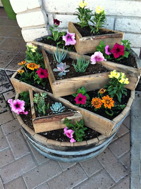 whiskey barrel planter here is your newest project toni