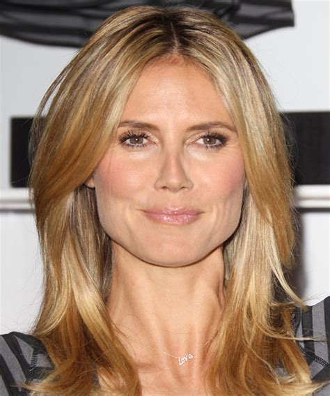 medium haircuts heidi klum heidi klum casual hairstyle medium copper