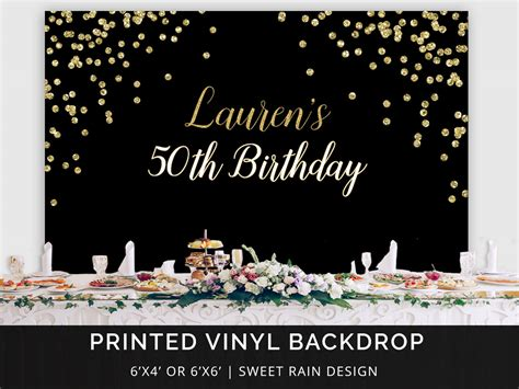 backdrop design for 50th birthday black and gold birthday party backdrop 50th birthday party