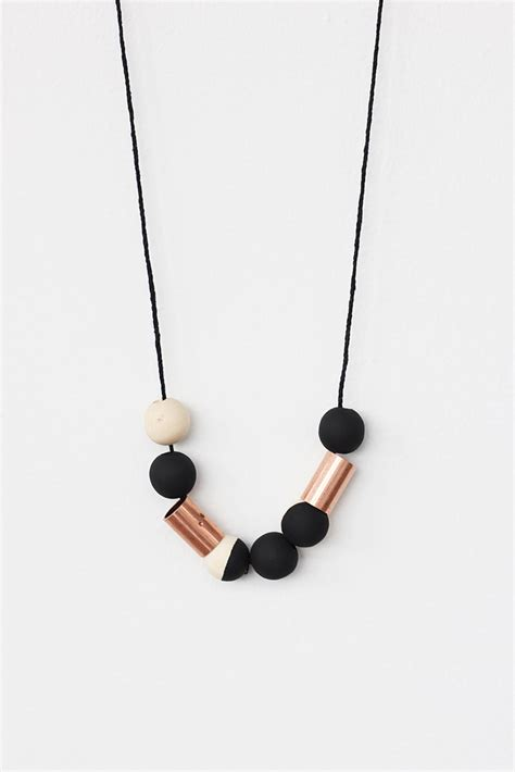wood bead necklace and loisdiy copper and wood bead necklace