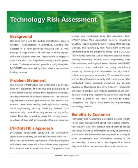 technology assessment report template technology assessment templates 7 free pdf documents