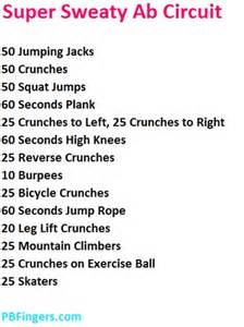 list of workouts