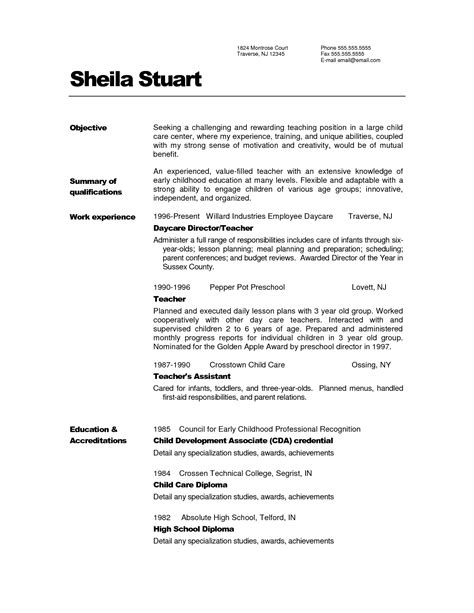 Resume Sle Primary Sle Of Resume For Teachers 28 Images Bible Resume Sales Lewesmr Primary Resume Scotland