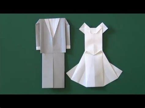 How To Make Origami Wedding Dress - marriage ceremony quot wedding dress quot origami diy