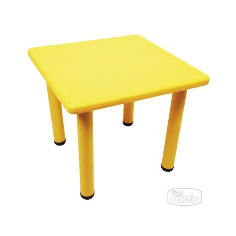 mesas cuadradas mesa cuadrada 60x60x50cm amarillo