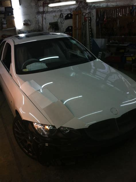 bmw balloon repainting 335i coupe lamborghini balloon white