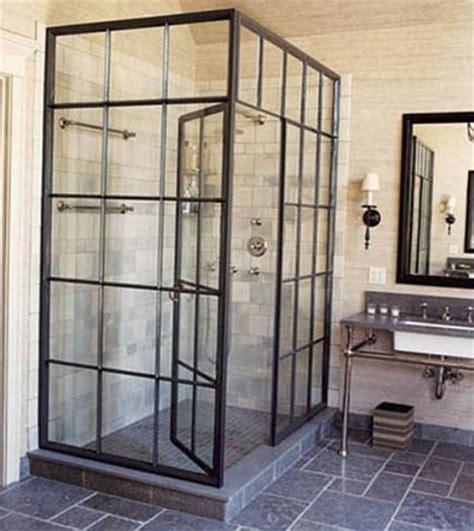 industrial shower door la verri 232 re atelier dans la salle de bains 26 id 233 es